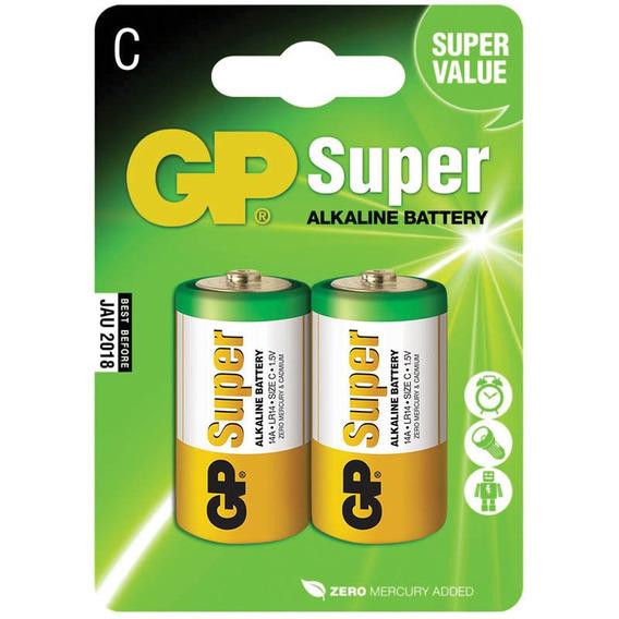 Pilha Alcalina C Média 1.5v C/ 2un Gp Batteries