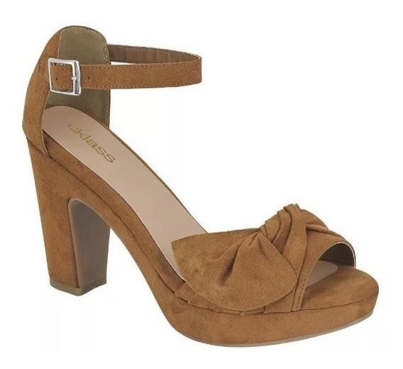Zapatilla Zapato Dama Mujer Moda Miel Tipo Gamuza Tacon10cm