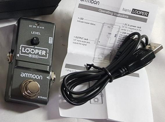 Pedal Efeito Loop Looper Ammoon Gravação 10 Minutos Show F