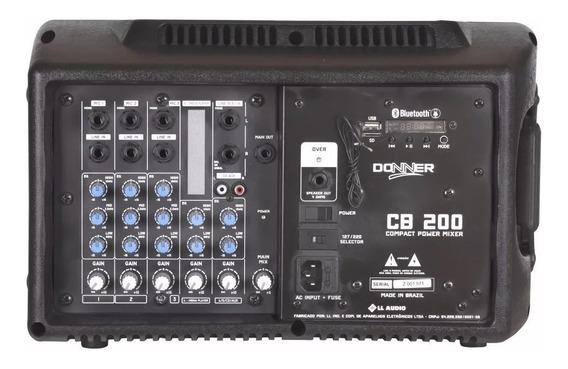 Mesa Som Cabeçote Amplificado Cb200 6 Canais Nca