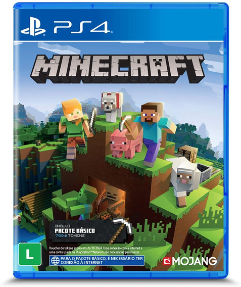 Minecraft Ps4 Mídia Física Lacrado Leg Pt Br