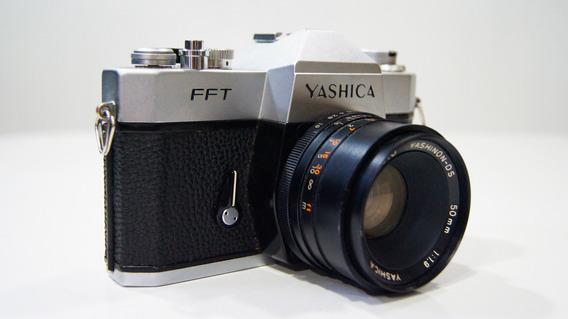 Câmera Maquina Fotográfica Antiga Yashica Fft