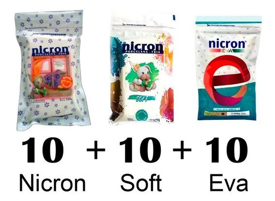 Porcelana Fria 10 Nicron + 10 Soft + 10 Eva 30 Paquetes