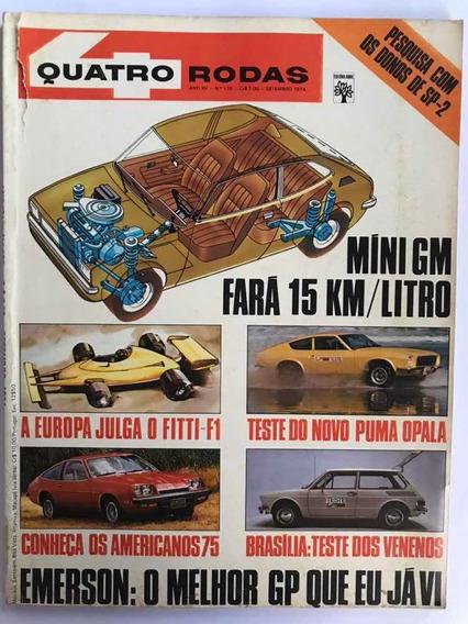 Revista Quatro Rodas, Ano De 1974