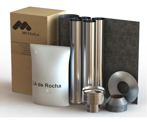 Imagen 1 de 5 de Kit Caños Techo Para Calefactores Metávila 250mm - La Kazona