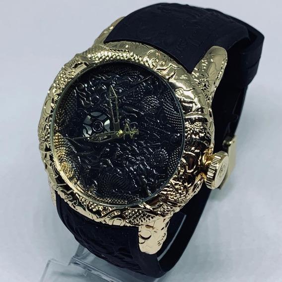 Relógio Masculino Dragon+caixa Acrilico