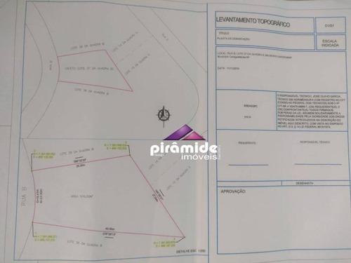 Terreno À Venda, 576 M² Por R$ 250.000,00 - Massaguaçu - Caraguatatuba/sp - Te1565