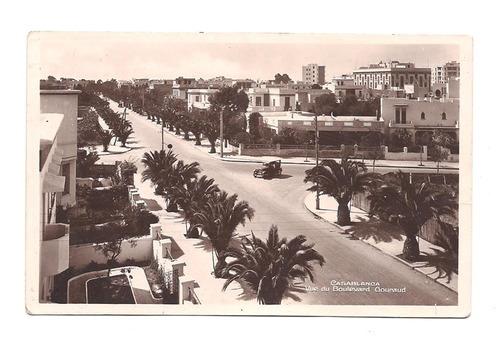 Antigua Postal Casablanca Marruecos Año 1939 Palmeras 530