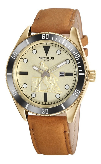 Relógio Masculino Seculus Country Couro 20830gpsvdc1 C/ Nf