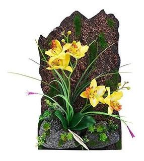 Artificial Marco Disposición 3d Flor De La Orquídea Para La