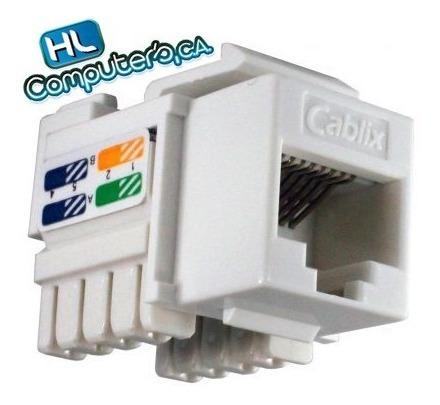 Conector Jack Coupler Rj45 Cat5e 10 Unidades Rj45 Cablix