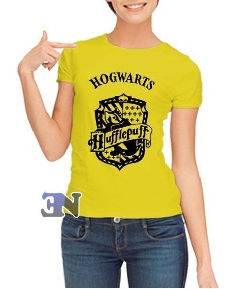 Camiseta Hufflepuff Lufa-lufa Hogwarts Harry Potter Feminina