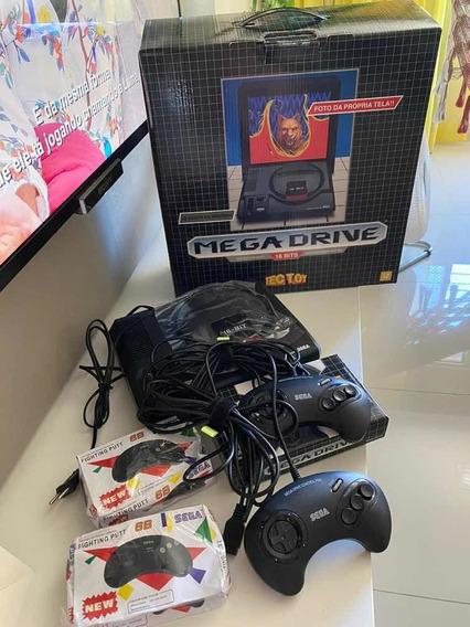 Novo Mega Drive 16 Bits Na Caixa!