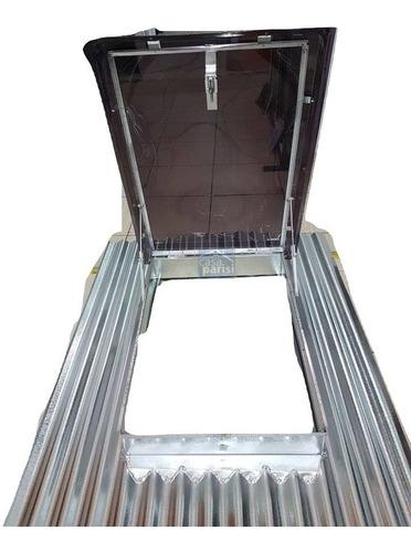 Claraboya Techo Chapa 57x82 De Abrir A 90º Acrilico Fumee