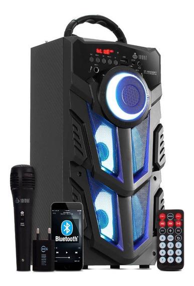 Caixa De Som Bluetooth Portatil Amplificada Microfone Grátis