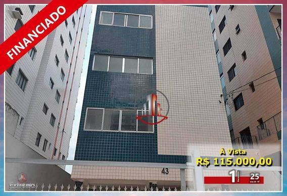 Kitnet Com 1 Dormitório À Venda, 25 M² Por R$ 115.000,00 - Vila Assunção - Praia Grande/sp - Kn0238