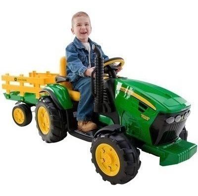 Tractor Remolque Jhon Deere Niños Juguete Recargable Maa