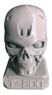 Terminator T-800 Cabeza Impresa En 3d
