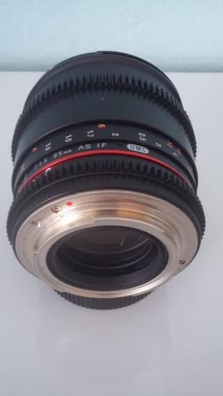 Lente Rokinon / Samyang 85mm T/1.5 P/ Canon