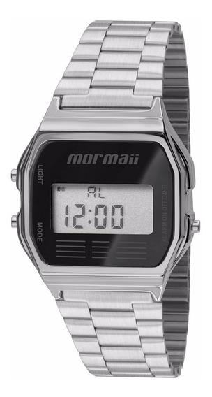 Relógio Mormaii Unissex Vintage Mojh02aa/3p Digital Aço