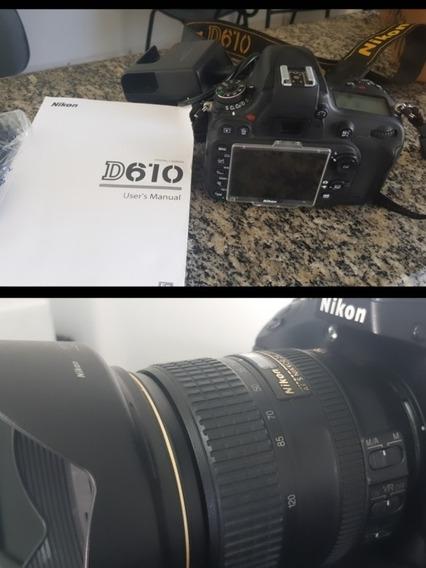 Nikon D610 Com Lente 24-120mm