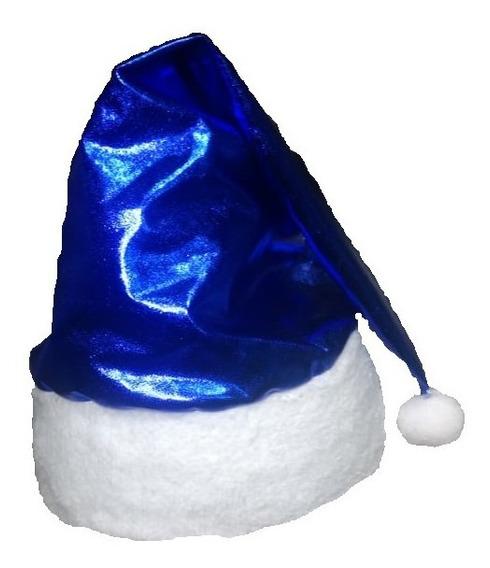 Gorro Metálico Azul Adulto