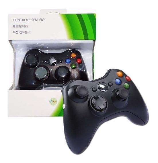 Controle Sem Fio Wireless Xbox 360 Slim Joystick