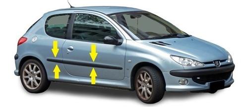 Peugeot 206 3p Baguetas 4 Pzs. Negras Rapinese Molduras