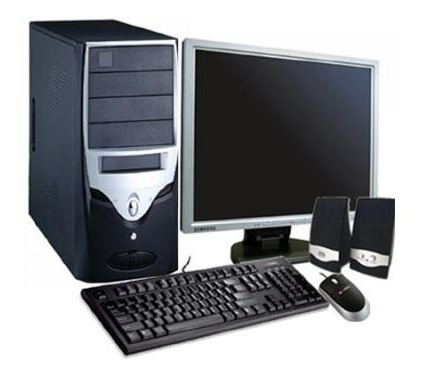 Imagem 1 de 1 de Cpu Completa C/ 4gb Hd 80  + Monitor + Teclado E Mouse