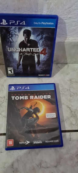 Combo Jogos Ps4 Tomb Raider Uncharted4