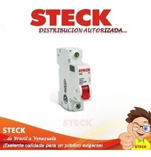 Breaker Termomagnetico 1 Polo X 20 Amp 6ka Steck