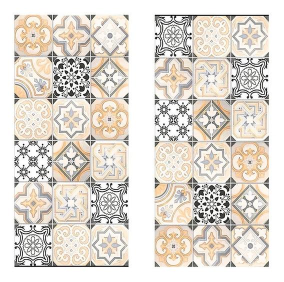 Piso Ceramico 1cal 45x90 Hidraulico Rect Lume Mos Calcareo