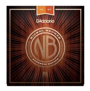 Encordoamento Daddario Violão Aço 0.10 Nickel Bronze Nb1047