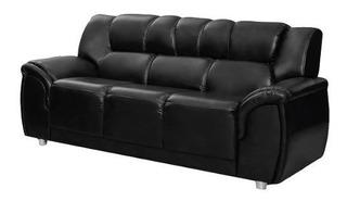 Sillon 3 Cuerpos Sofa Living Pu Negro Córdoba