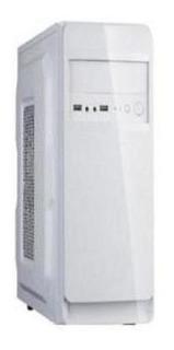 Gabinete Evotec 1001b - Mini-tower, Micro-atx, Color Blanco