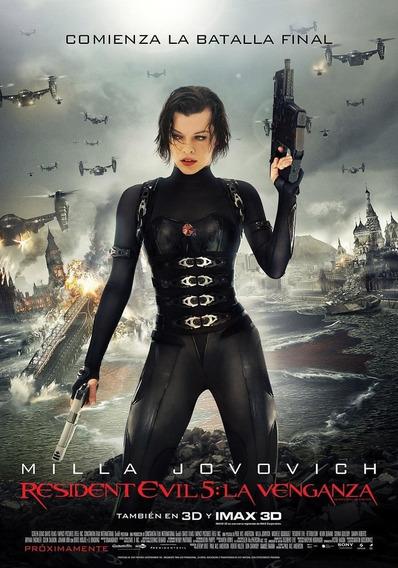 Poster Original Cine Resident Evil - La Venganza