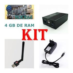 Rock 64 4gb Ram 4k Android Media Pc.kit