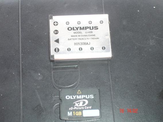 Memoria Y Bateria Para Camara Olympus Y Bateria