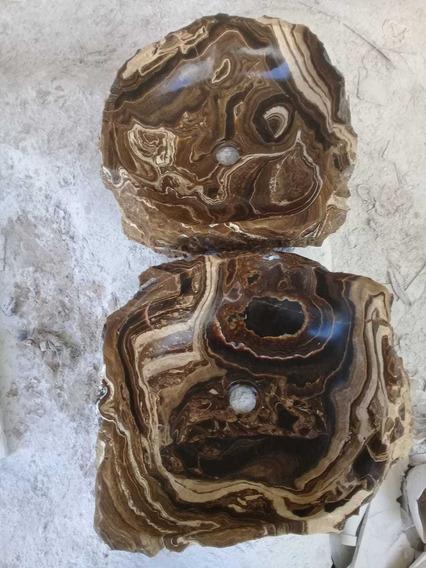 Ovalin; Lavabo Rústico Onix Café Decoración Baños Piedra