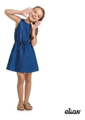 Vestido Infantil Elian Em Jeans