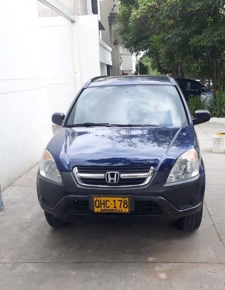 Honda Crv Lx 2004 4x4 Azul Aut