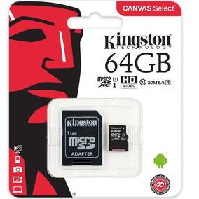 Cartão Micro Sd 64gb Classe10 Kingston Original 80mb/s