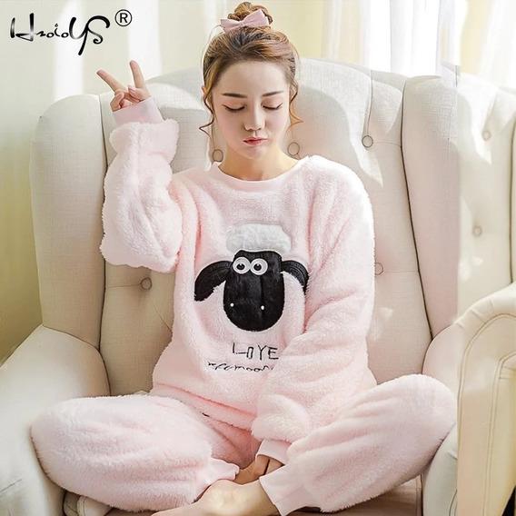 Pijamas Mujer Dama Diferentes Modelos Invierno Calientitas