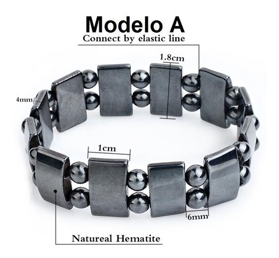 Pulseira Bracelete Magnética Black Stone Hematita Cod.02