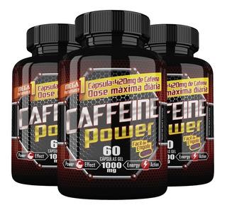 Caffeine Power (cafeína) - 3x 60 Cápsulas - Katigua Sport