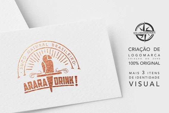 Criação De Logotipo Logo Logomarca + Identidade Visual Marca