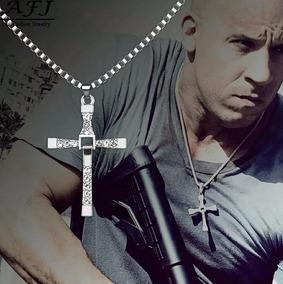 Colar Corrente Crucifixo Toretto Velozes Furiosos Cruz Aço