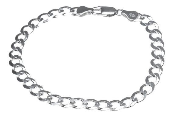 Pulseira Prata 925 Masculina - Groumet - 21cm