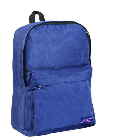 Mochila Escolar 17 Pulgadas Azul Con Bolsillo Exterior 3573