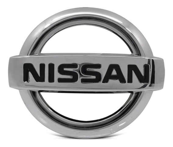 Emblema Nissan Grade Dianteira 10x8,5 Cromado/preto Original